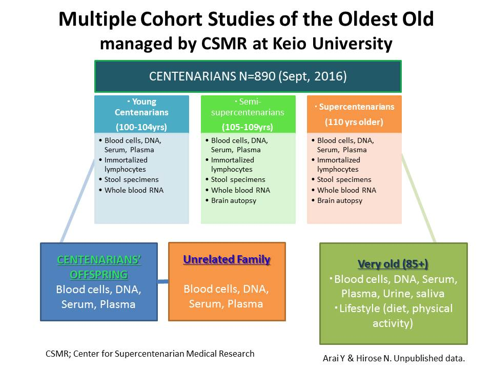 Multiple Cohort Studies of the Oldest Old managed by CSMR at Keio University
